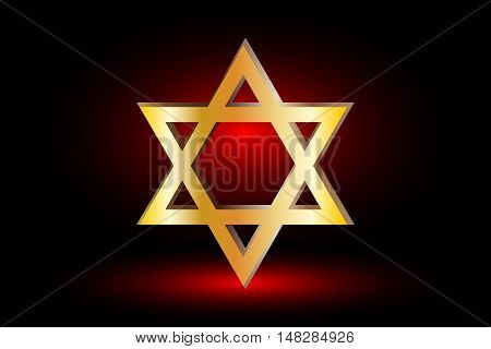 Star of david ,Jewish star,Star of David on a red background