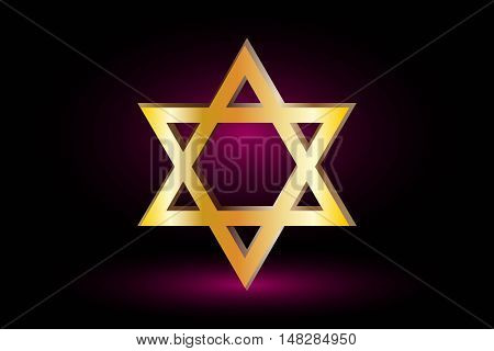 Star of david, Jewish star,Star of David on a purple background