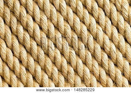Diagonal Strands Of Rope As Background