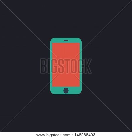 mini tablet Color vector icon on dark background