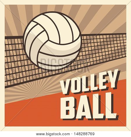 Ball icon. Volleyball sport hobby and competition theme. Colorful design. Vector illustration