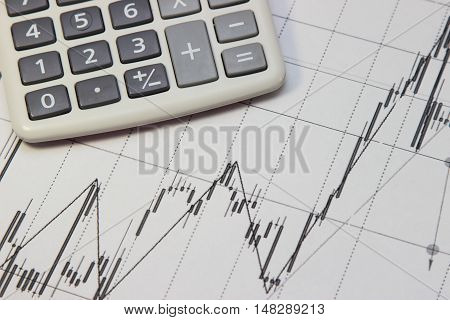 calculator and Dow Jones index. currency rates on Forex