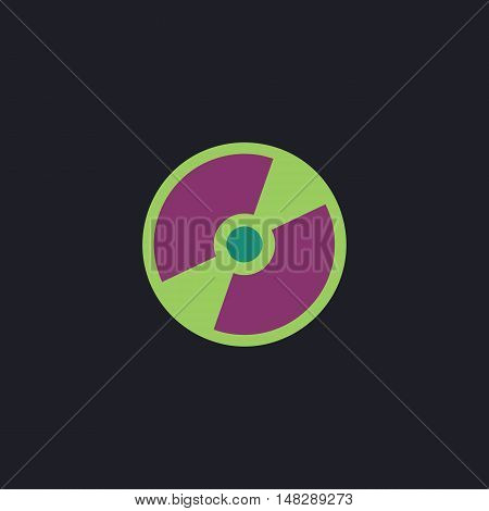 CD DVD Color vector icon on dark background
