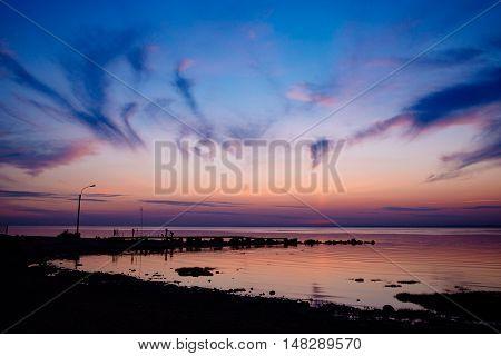 Beautiful sunset above sea. Amazing sunset Awesome sunset. Summer sunset. Landscape sunset. Beautiful sunset. Travel sunset