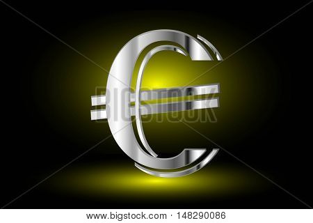 euro symbol on yellow background, euro symbol