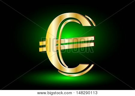 euro symbol on green background ,euro symbol