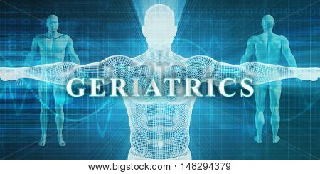 Geriatrics as a Medical Specialty Field or Department 3d Illustration Render