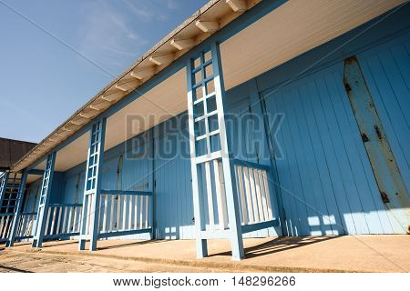 Painted Summer Beach Huts In Sunshine