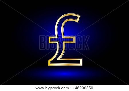 Pound symbol ,Pound symbol icon on blue background