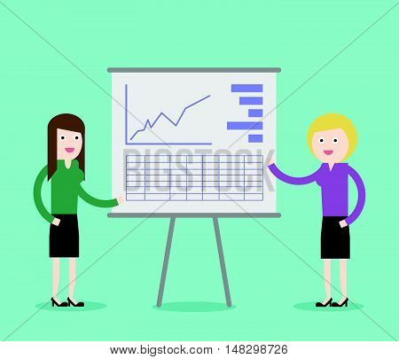 Concept Of Two Business Woman Presentation