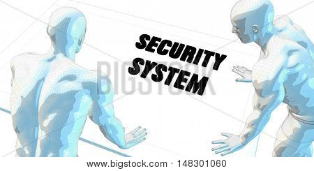Security System Discussion and Business Meeting Concept Art 3d Illustration Render