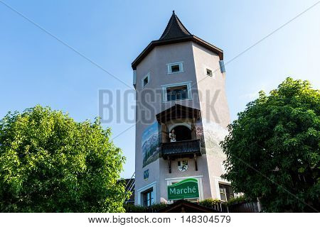Heidi Tower At The Motorway Resting Area In Bad Ragaz, Switzerland