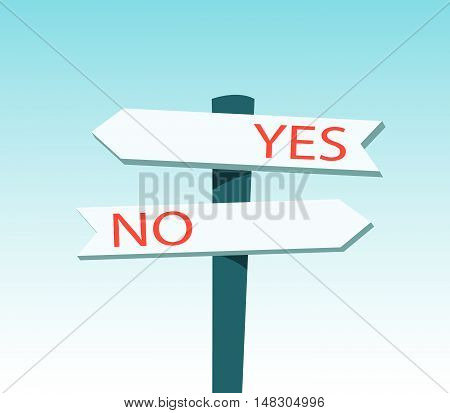 Signpost With Yes And No Text