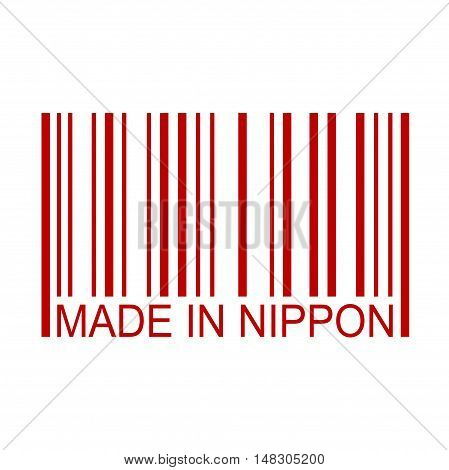Made In Nippon Full Bar Code Minimal Text