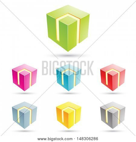illustration of colorful cubical icons