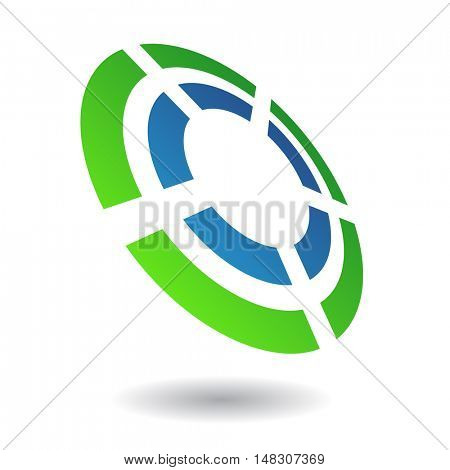 Abstract circle icon and design element