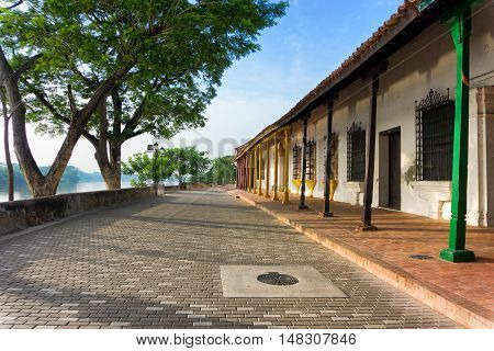 Colonial architecture in Mompox Colombia on the Magdalena River