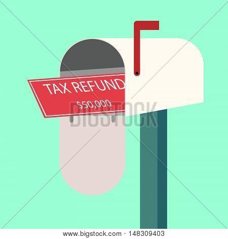 Tax Refund Cheque In Mailbox