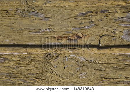 old cracked varnish on a wooden board