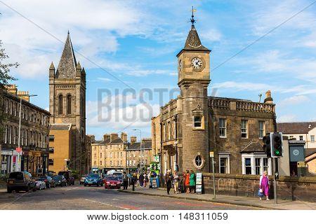 Street View Of Stockbridge In Edinburgh, Scotland