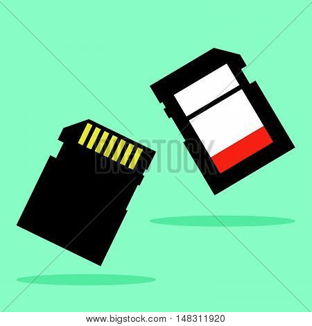 Sd Memory Card Vector