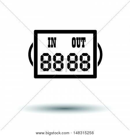 Soccer Referee Replace Scoreboard  Icon