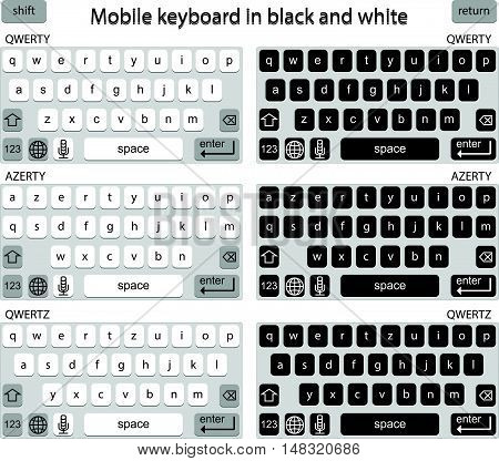 Phone keyboard in black and white smart phone keypad mobile phone key text, computer technology background