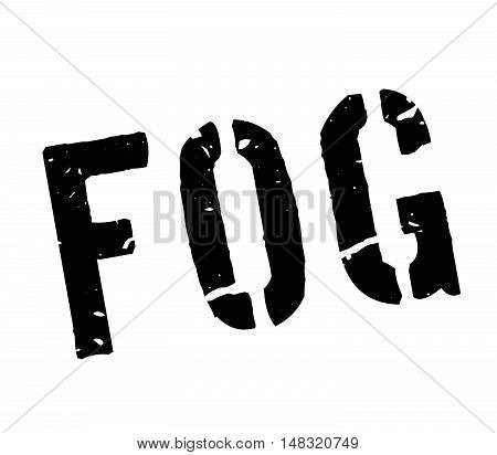 Fog Rubber Stamp