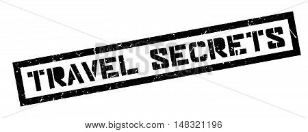 Travel Secrets Rubber Stamp