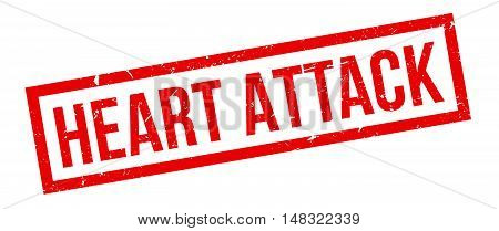 Heart Attack Rubber Stamp
