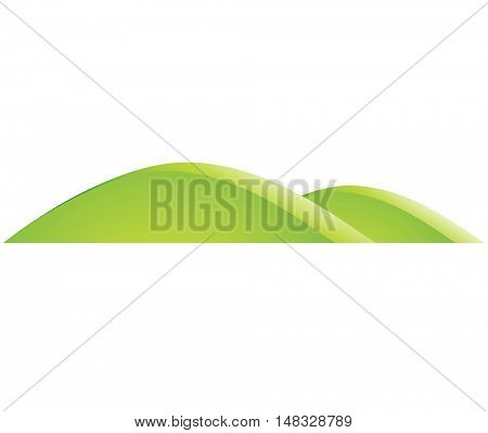 Illustration of Green Hills Cartoon isolated on a white background