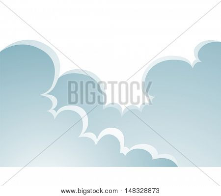 Illustration of Puffy Clouds Cartoon isolated on a white background