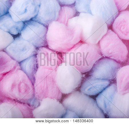 New colore Cotton balls abstact multicolored background