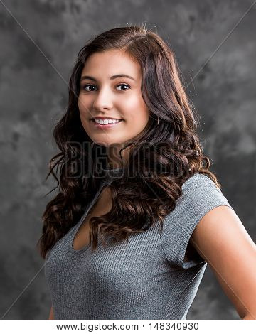 Woman Teenager Girl Hair Style Fashion Portrait.
