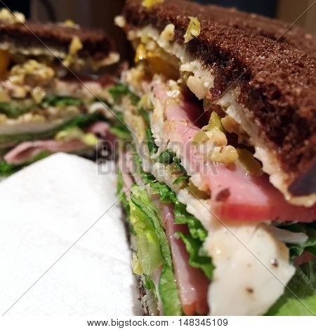 Sandwich On Pumpernickel
