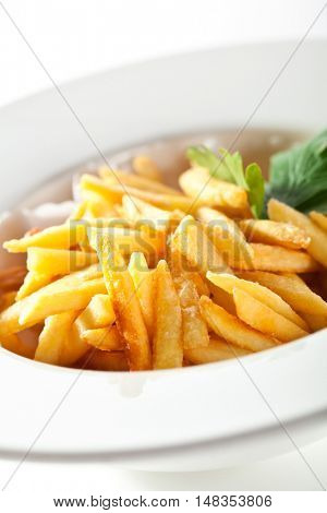 French Fries over White