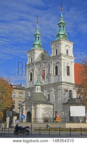 Collegiate Church of St. Florian is a historic church in Krakow Poland