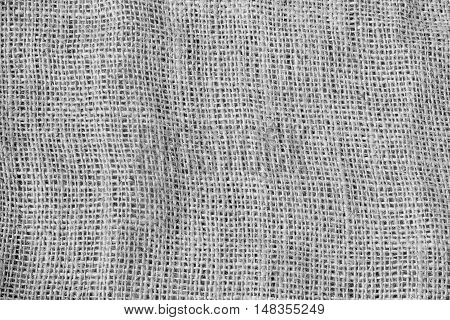 Hessian sackcloth woven texture pattern background black and white tone