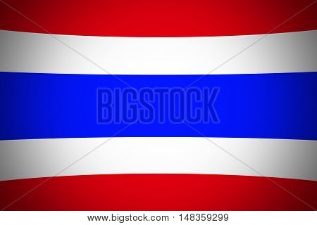 Thailand flag ,Original and simple Republic of The thailand flag
