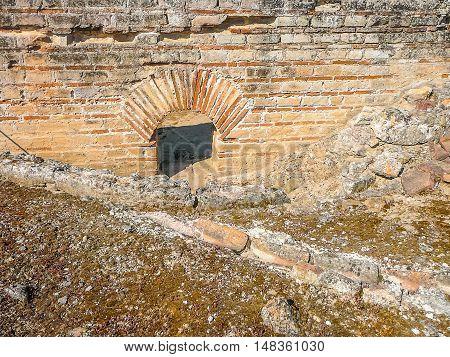 Hdr Roman Baths Ruins In Fordongianus