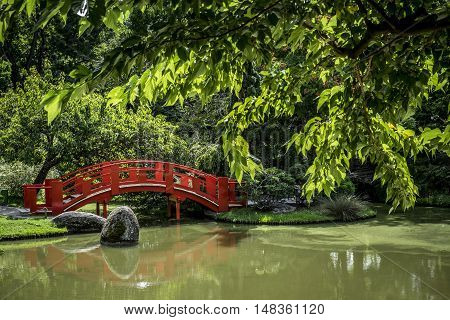 Japanese Public Garden In Toulouse In  France