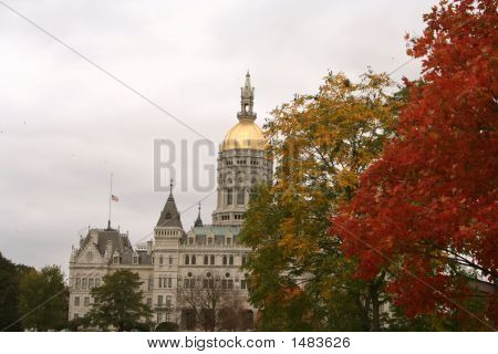Capitol Building In Autumn