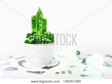 Concept Of Growth Of New Ecology City Development.