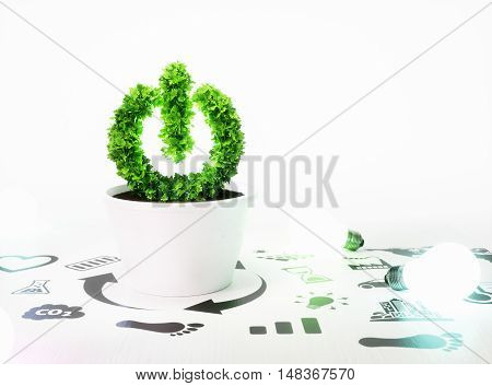 Concept Of Growth Of New Ecology Energy Ideas