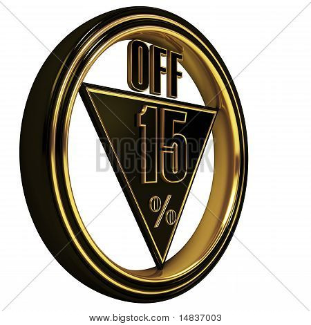 Gold metal fifteen Percent off