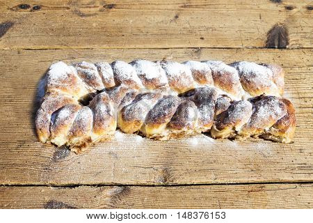 Strudel On A Wooden Table