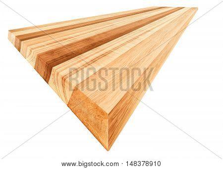 perspective muti earth tone colour Oak wood board isolate