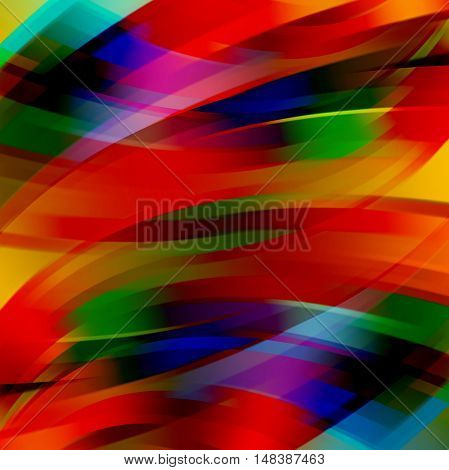 Abstract Technology Background Vector Wallpaper. Stock Vectors Illustration. Red, Blue, Green, Orang