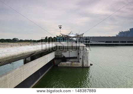 Marina Barrage,  Dam Built Across The Mouth Of Marina Channel