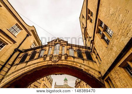 Bridge of Sighs and New College Lane, Oxford, UK